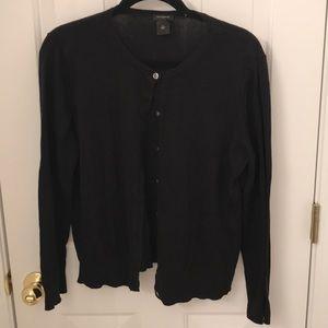 Ann Taylor XL black cardigan